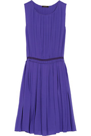 Nina Ricci Pleated silk-georgette dress