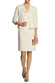 Nina Ricci Cotton-blend lace pencil skirt