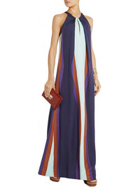 Diane von Furstenberg Jordan color-block silk-blend maxi dress