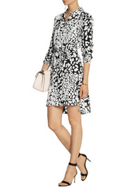 Diane von Furstenberg Prita printed silk crepe de chine dress