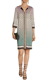 Diane von Furstenberg Rose printed silk-jersey dress