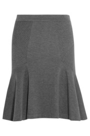 Carlita flared stretch-jersey skirt