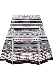 Flote jacquard-knit mini skirt