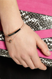 Monica Vinader Baja rose gold-plated onyx bracelet