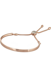 Monica Vinader Fiji rose gold-plated diamond bracelet