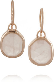 Monica Vinader Siren rose gold-plated quartz earrings