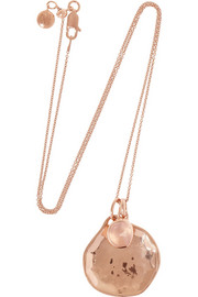 Monica Vinader Siren and Riva rose gold-plated quartz necklace