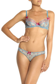 L'Agent by Agent Provocateur Tabita embroidered stretch-tulle underwired bra