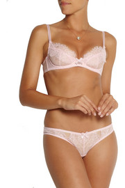 L'Agent by Agent Provocateur Idalia lace-trimmed stretch-tulle underwired bra