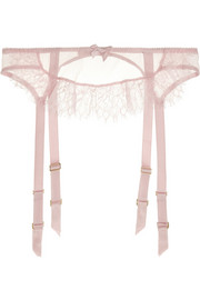 L'Agent by Agent Provocateur Idalia lace and stretch-tulle suspender belt