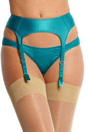 L'Agent by Agent Provocateur Danita satin suspender belt