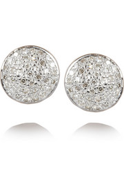 Monica Vinader Ava Button rose gold-plated diamond earrings