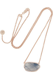 Monica Vinader Siren rose gold-plated labradorite necklace