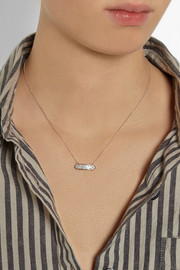 Monica Vinader Baja Mini rose gold-plated diamond necklace