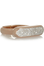 Monica Vinader Baja rose gold-plated diamond ring