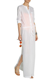 Theory Beach cotton-voile maxi dress