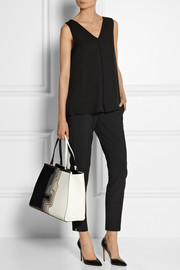 Theory Lesay silk crepe de chine top