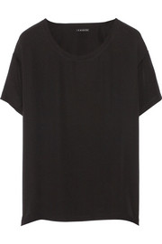 Theory Light silk-georgette top