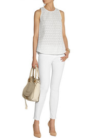 Theory Malyn cotton-eyelet top