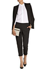 Theory Kleon B cropped ponte tuxedo pants