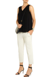 Theory Kleon B cropped stretch-jersey straight-leg pants