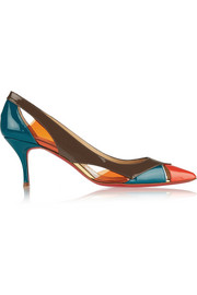 Christian Louboutin Galata 70 patent-leather and PVC pumps