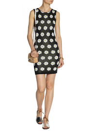 Alice + Olivia Dee knitted floral-jacquard mini dress