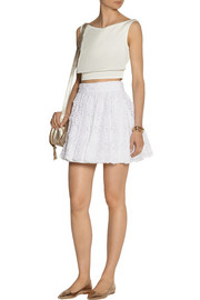 Alice + Olivia Gilberto cotton-lace skirt