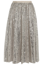 Alice + Olivia Justina sequined tulle skirt