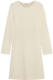 See by Chloé Honeycomb stretch cotton-blend mini dress