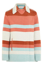 See by Chloé Striped woven felt coat