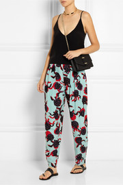 See by Chloé Printed crepe straight-leg pants