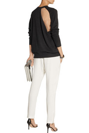 Alexander Wang Cutout wool-blend and mesh sweater