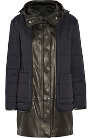 Alexander Wang Distressed cotton-blend twill parka