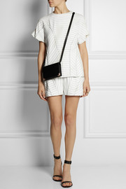 Alexander Wang Pinstriped crepe shorts