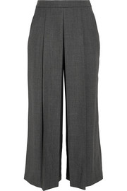 Alexander Wang Pleated cropped wool wide-leg pants
