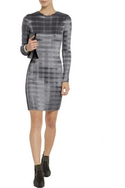 Alexander Wang Pinstriped plissé-satin dress