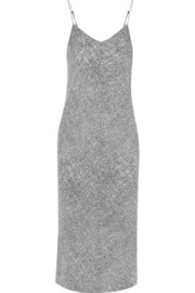 T by Alexander Wang Printed stretch-silk georgette slip dress