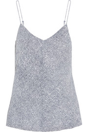 T by Alexander Wang Printed stretch-silk georgette top