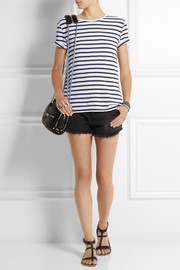 T by Alexander Wang Striped linen and cotton-blend T-shirt