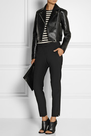 T by Alexander Wang Bonded textured-leather biker jacket