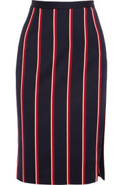 Altuzarra Faun striped cotton and wool-blend skirt