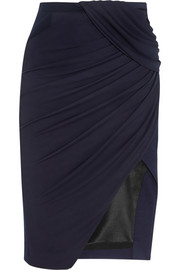 Altuzarra Wrap-effect stretch-jersey crepe skirt