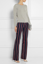 Altuzarra Redwood striped wool and cotton-blend bootcut pants
