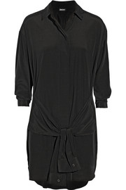 DKNY Stretch-silk shirt dress