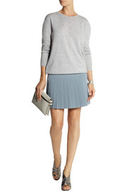 DKNY Pleated crepe mini skirt