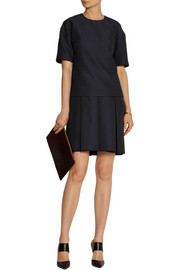 Victoria, Victoria Beckham Layer-effect pleated cloqué mini dress