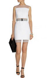 Victoria, Victoria Beckham Silk organza-trimmed quilted faille dress