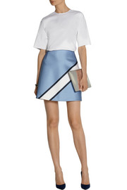 Victoria, Victoria Beckham Cotton-blend poplin and satin-jacquard dress