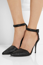 Lovisa textured-leather pumps